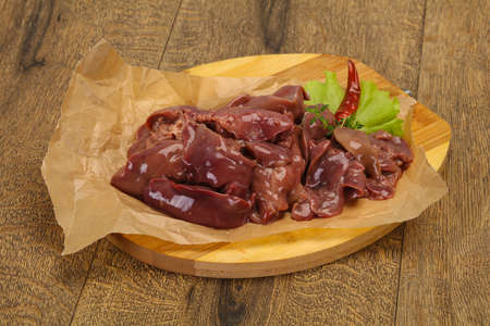 Raw chicken liver ready for cooking and roast Reklamní fotografie