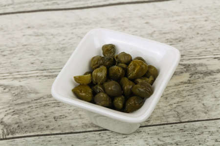 Marinated Capers in the bowl