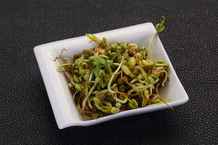 Mash bean sprout in the bowl