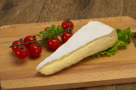 Brie cheese triangle served salad leaves Stock fotó - 136469799