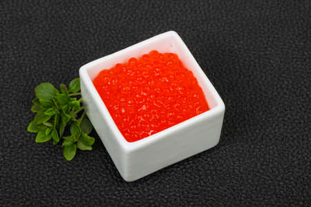Luxury Red Caviar in the bowl