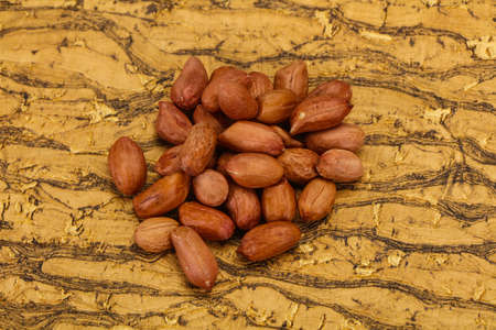 Raw peanut heap - ready for roast