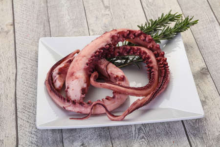 Tasty Octopus tentacles with rosemary