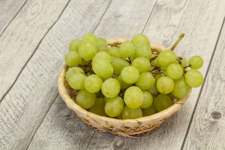 Sweet ripe fresh Green grape branch