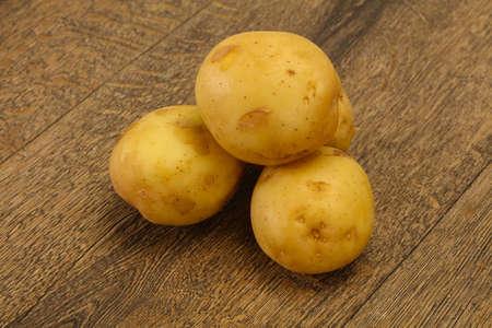 Young small seasonal potato heap ready for cooking