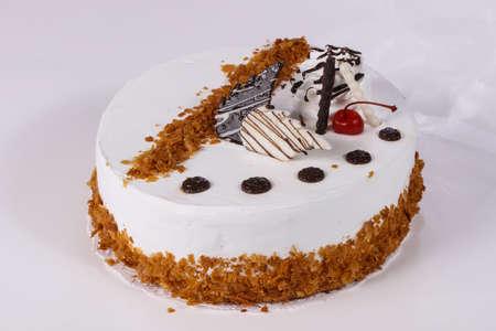 Sweet tasty cake with cream