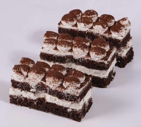 Delicous Cake chocolate with cream 免版税图像
