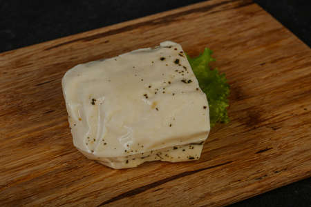 Greek Halloumi cheese with mint for grill