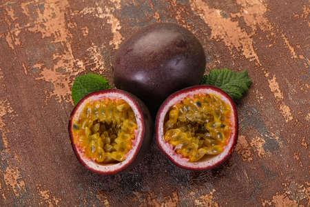Tropical fresh ripe Passion fruit
