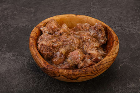 Gurmet venison stew with spices in the bowl