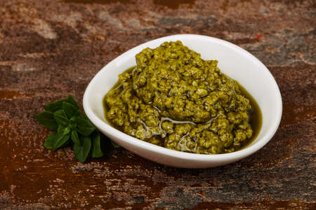 Basil sauce Pesto in the bowl