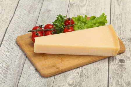Italian traditional parmesan cheese triangle served salad Archivio Fotografico