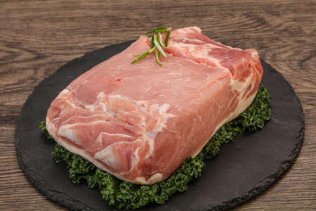 Raw Pork meat piece for cooking