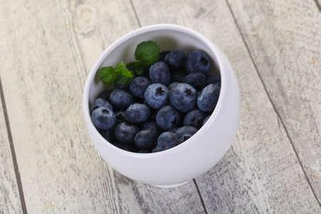 Sweet tasty Blueberry in the bowl Banco de Imagens