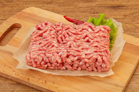 Minced meat - pork and beef - for cooking