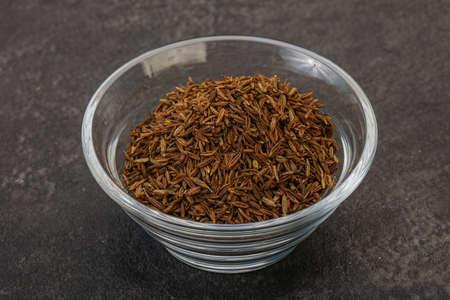 Aroma cuisine dry zeera seeds in the bowl