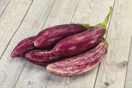 Vibrant tasty ripe Graffiti violet eggplant