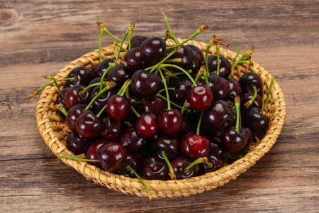 Ripe sweet tasty fresh cherry  berry