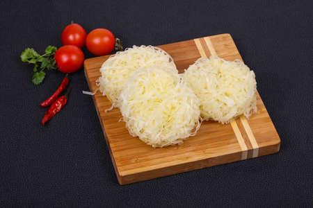 Raw rice noodle ready for cooking 写真素材