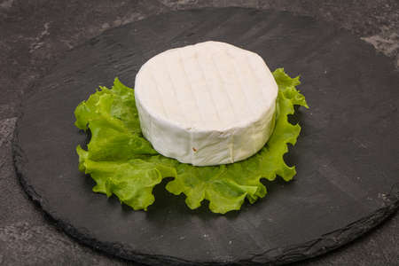 Delicous tradidional Brie round soft cheese 写真素材