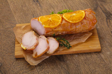 Chicken roll with orange and thyme