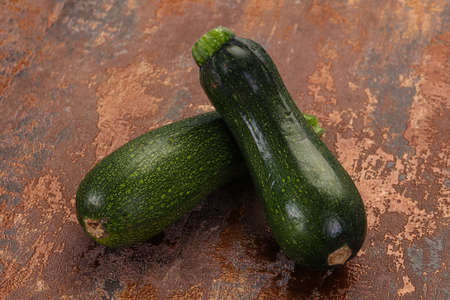 Raw ripe zucchini ready for cooking