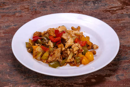 Asian cuisine - Roasted pork with vegetables