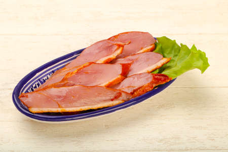 Sliced duck with skin