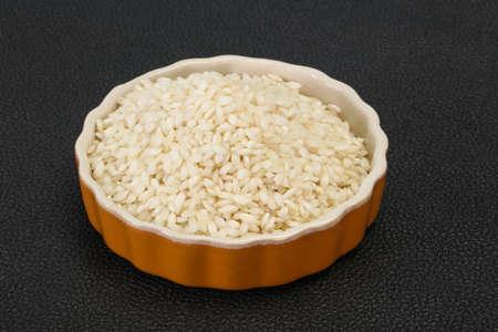 Raw Arborio rice for Italian risotto
