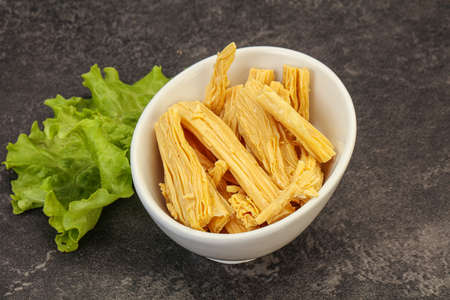 Korean asparagus (fuzhou) traditional salad in the bowl 版權商用圖片