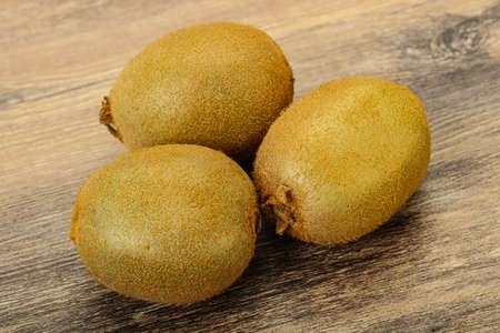 Few ripe sweet kiwi exotic fruit