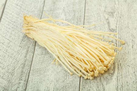 Superfood - Raw Enoki mushrooms Asian cuisine