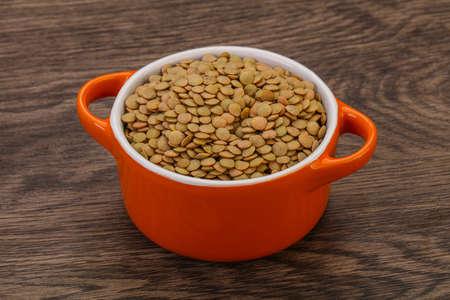 Vegan cuisine - Dry lentil heap isolated 写真素材