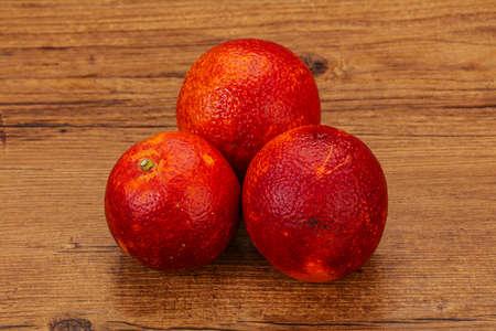 Red sweet orange over natural background