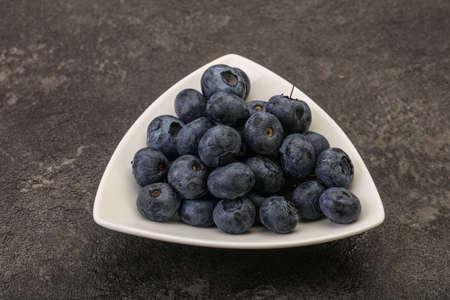 Ripe sweet tasty natural blueberries heap 写真素材