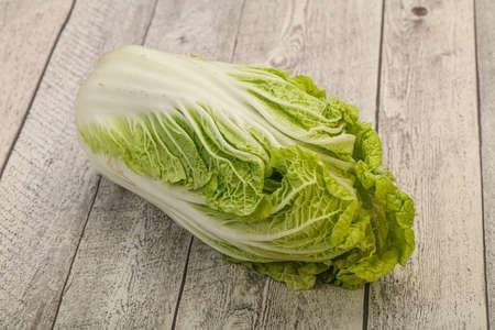 Vegan cuisine - Green fresh tasty Chinese cabbage 版權商用圖片