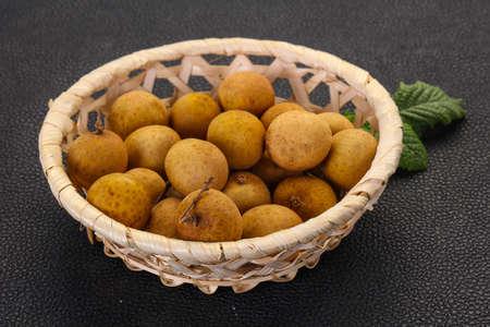 Tropical fruit longan in the basket