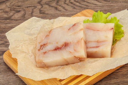 Raw dietary pollock fish fillet for cooking