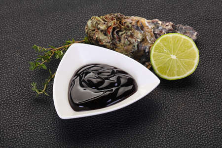 Traditional Oyster sauce in the bowl Banco de Imagens