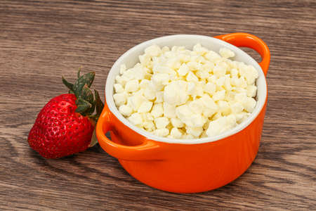 Dietary food - grain cottage cheese in the bowl