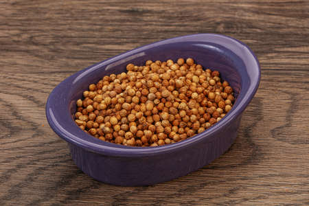 Dry Coriander seeds in the bowl