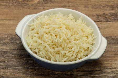 Steamed indian basmati rice in the bowl Banco de Imagens