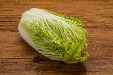 Vegan cuisine - Green fresh tasty Chinese cabbage
