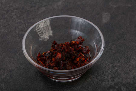 Vietnamese Fried chili pepper sauce with oil