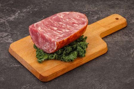Tasty Beef ham piece over board