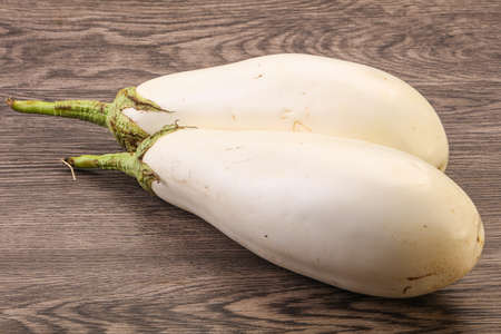 Ripe and tasty white organic eggplant or aubergine