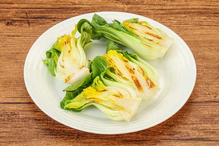 Vegan cuisine - Grilled bok choy salad