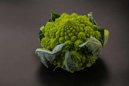 Tasty Vegan organic food - Romanesco cabbage Stock Photo
