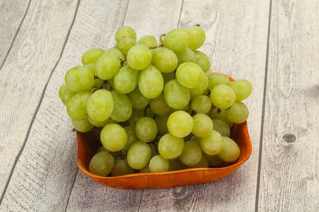 Sweet ripe fresh Green grape branch Stock Photo