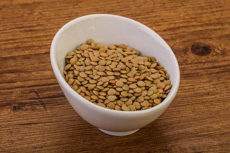 Vegan cuisine - Dry lentil heap isolated